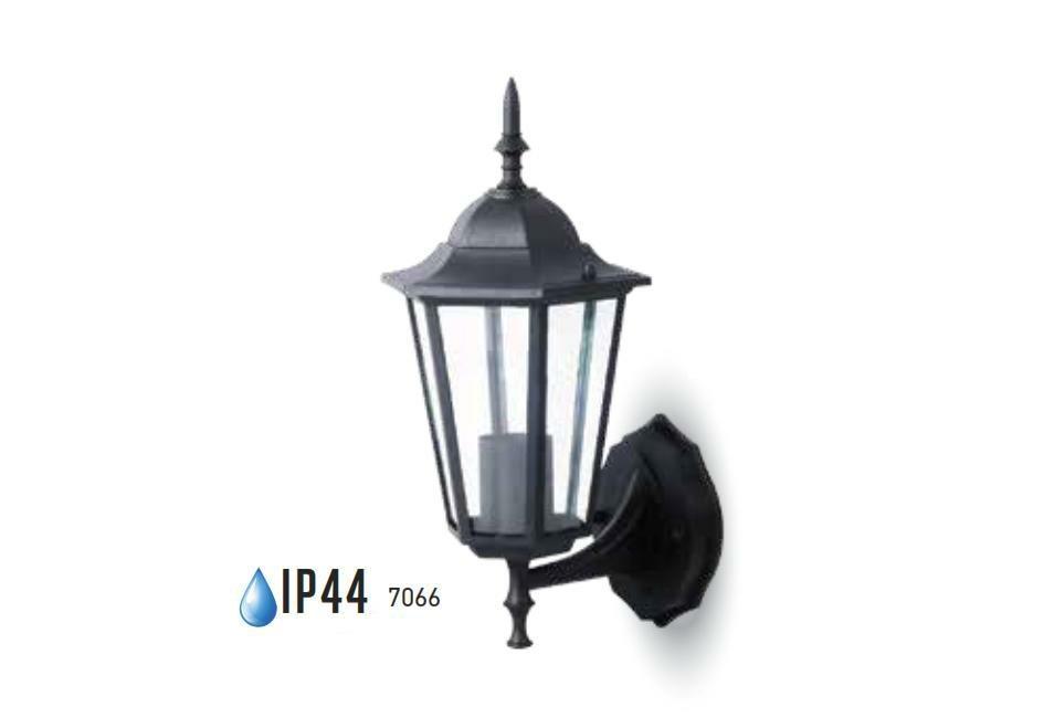 Applique lanterna down alluminio ruggine