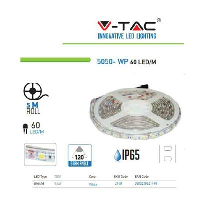 STRISCIA 60 LED AL METRO 12V IP65 M.5 6000 °K